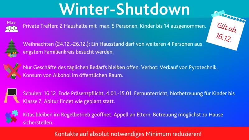 Regeln im Winter-Shutdown